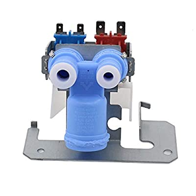 ApplianPar WR57X10051 Refrigerator Water Inlet Valve Replacement for GE Hotpoint Kenmore Icemaker Pump 1032629 AP3672839 PS901314 AH901314