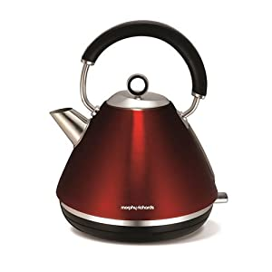 Morphy Richards Accents Traditional Kettle Stainless Steel RED