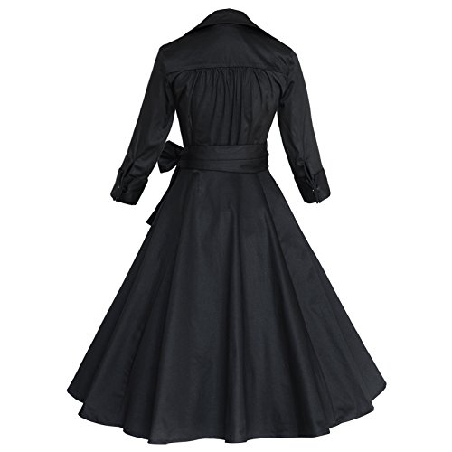 Black Sleeve Dress Women's 60S Rockabilly 50S Tang Swing 4 Vintage Small 3 Maggie qOx7RwHn