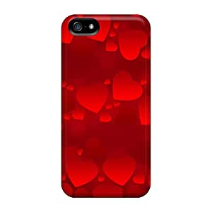 StellaKotch Premium Protective Hard Case For Iphone 5/5s- Nice Design - Holidays Saint Valentines Day Red Hearts