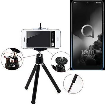K-S-Trade® Smartphone Trípode/Soporte Móvil/Trípode como para Alcatel 3 (2019). Trípode De Aluminio/Trípode con Soporte para El Teléfono Móvil, Universal para Todos Los Teléfonos: Amazon.es: Electrónica