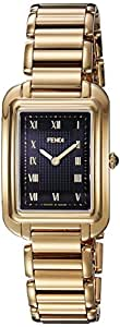 Fendi Women's 'Classico Rect' Swiss Quartz and Gold-Tone-Stainless-Steel Dress Watch, Color: (Model: F701431000)