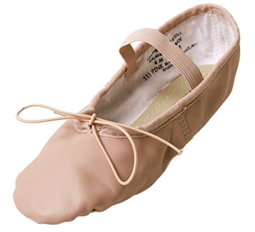 Danshuz Youth Supreme Leather Ballet Shoes (12.5M Pink) (Youth Footwear Leather Pink)