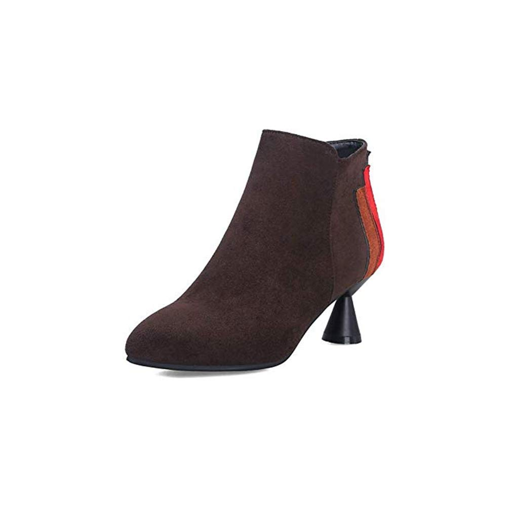 Amazon.com: T-JULY - Botas de tobillo para mujer, talones de ...