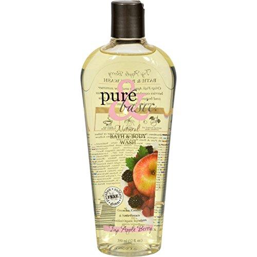 Pure and Basic Natural Bath and Body Wash Fuji Apple Berry - 12 fl - Basic Berry Apple Fuji