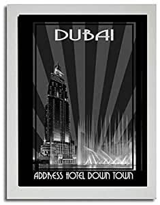 Address Hotel Down Town- Black And White F03-m (a5) - Framed