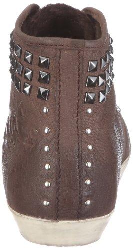 JETTE Fraktur Sneaker Booty 63/12/18589 Damen Sneaker Braun/Darkbrown