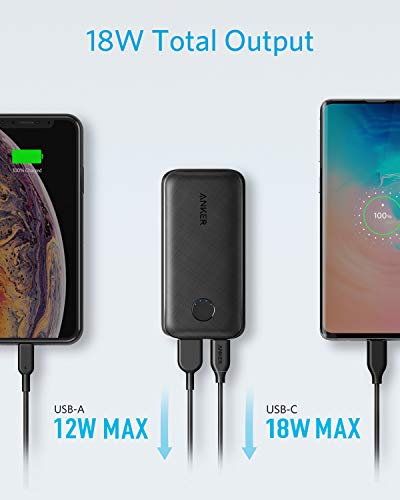 Anker PowerCore 10000 PD Redux, 10000mAh Portable Charger USB-C Power Delivery (18W) Power Bank for iPhone 11/11 Pro / 11 Pro Max / 8 / X/XS Samsung S10, Pixel 3/3XL, iPad Pro 2018, and More