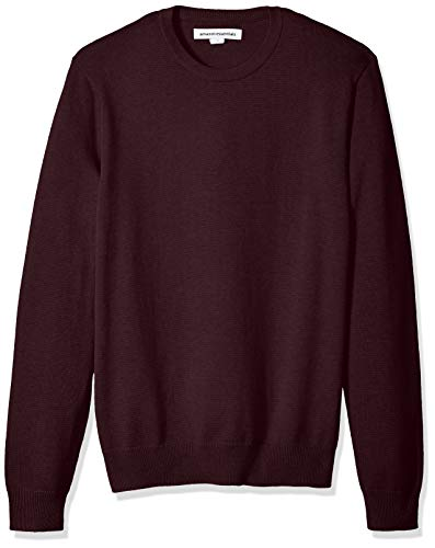 Amazon Essentials Men's Standard Crewneck Sweater, Burgundy, Small by Amazon Essentials
