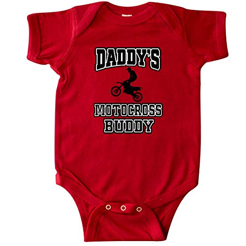 inktastic - Daddys Motocross Buddy Infant Creeper 6 Months Red 346a8