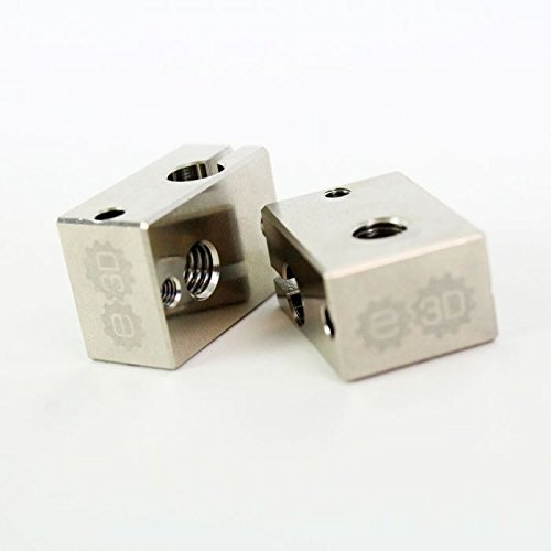 Genuine E3D v6 Plated Copper Heater Block (V6-BLOCK-CARTRIDGE-COPPER)