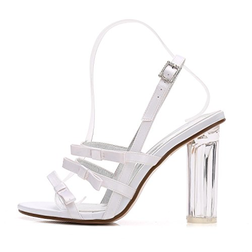 L@YC Women's Wedding Shoes F2615-3 Crystal Platform Dance Party Heels/White/Ivory Purple otWNHI2