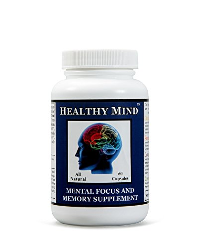 Healthy Mind Mental Focus and Memory Supplement 60 Capsules - Improve MEMORY, FOCUS and CONCENTRATION. All Natural with 2 X The Active Ingredients Of Most Other - Supplements Herbal Other