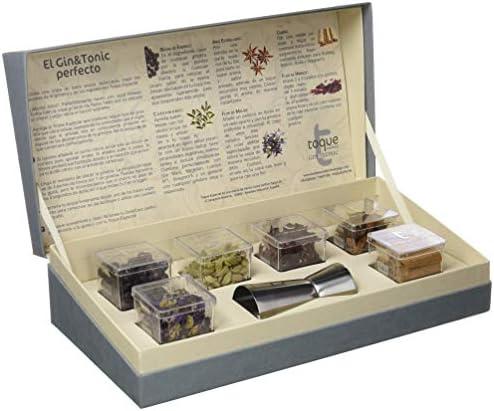 Toque Caja 6 botánicos para GinTonic: estuche Premium con ingredientes, instrucciones y herramienta profesional - 91,5 g (60000000027): Amazon.es: Alimentación y bebidas