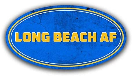 Two 5 Inch Decals Car Truck Van SUV Window Wall Cup Laptop More Shiz Long Beach California AF Vinyl Decal Sticker 2 Pack MKS1065