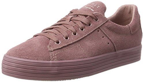 100 Women's Leather Mauve Suede Purple Mauve Esprit Women's Trainers Trend xgUPxYpw