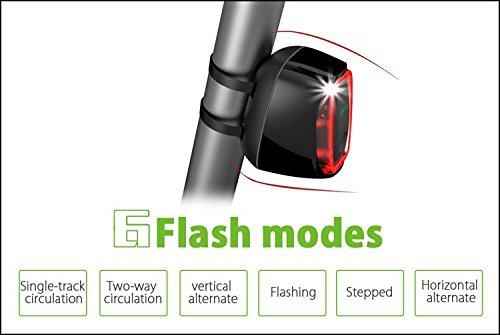 Bicicleta Luz trasera Intelligent Luz de Bicicleta USB LED recargables Smart Bike luz intermitente con luz de d/ía y detector de movimiento