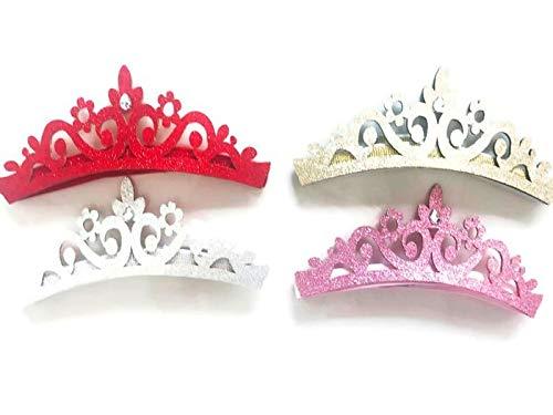 Women Girls Kids Tiara Crown Princess Halloween Party Costumes Cosplay Photo Prop Dress Up Pack of 4 pcs.: H33 (Princess Crown (4)) -