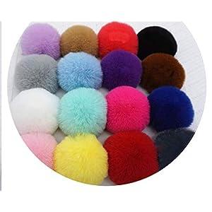100Pcs 6Cm Pompon Ball Fluffy Imitation Rabbit Fur Pompom Soft Pom Poms Multi Color Bobbles Hair Bows Hoop Accessories…