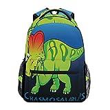 School College Backpack Rucksack Travel Bookbag Outdoor Dinosaur Chasmosaurus