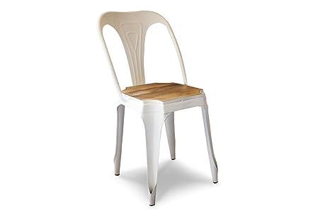 Sedie Bianche E Legno : Pib sedie sedia in metallo e legno multipls in stile vintage