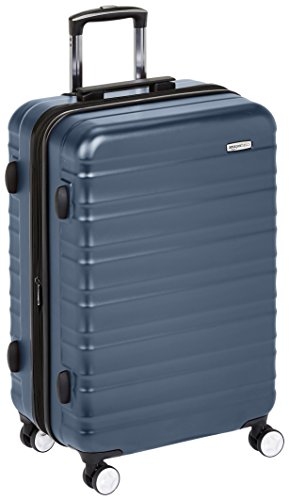AmazonBasics Premium Hardside Spinner Luggage with Built-In TSA Lock - 24-Inch, Navy Blue