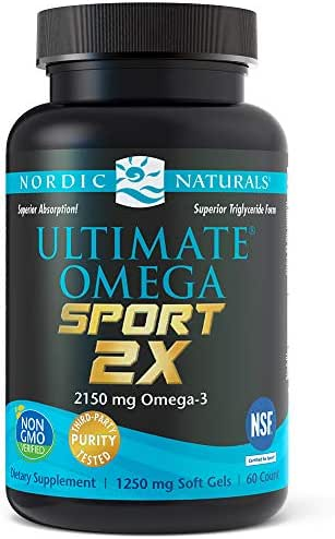 Nordic Naturals Ultimate Omega Sport 2X - Extra Omega-3s Support Heart, Brain, and Immune Health*, 60 Count