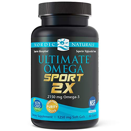 Nordic Naturals Ultimate Omega Sport 2X - Extra Omega-3s Support Heart, Brain, and Immune Health, 60 Soft Gels