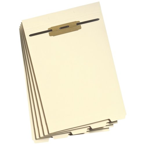 (Smead Folder Divider with Fastener, Bottom 1/5-Cut Tab, Letter Size, Manila, 50 per Pack (35600))