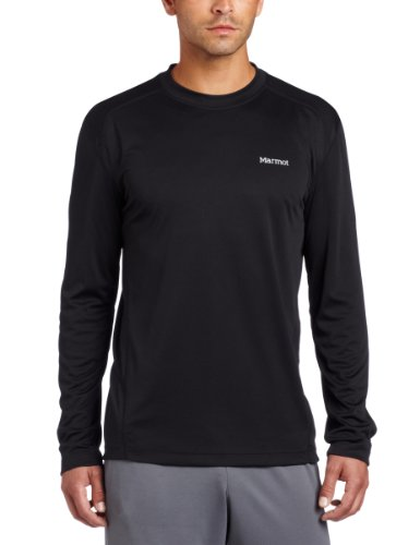 Marmot Long Sleeve Pullover - Marmot Men's Windridge Long Sleeve Tee, Black, Medium