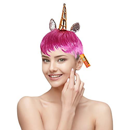 Unicorn Wig - #1 Quality Unicorn Wig - 3 Types of Unicorn Wigs (Pink Bangs Hair)