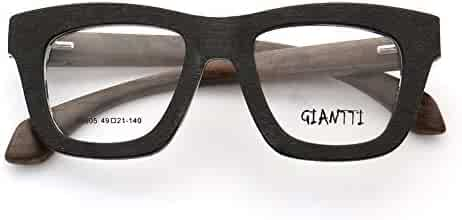 61bb7eb02236 Large Square Full-Rim Retro Fashion Wood Wooden Prescription Rx Eyeglass  Frames