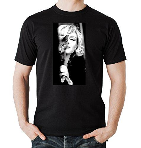 Marilyn Cat T-Shirt Black Certified Freak