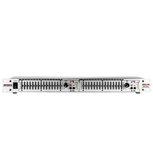 - Nady GEQ-215 Rackmount Dual 15-Band Stereo Graphic Equalizer