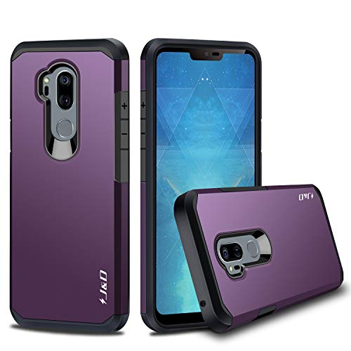 J&D Case Compatible for LG G7 ThinQ Case, LG G7 Case, Heavy Duty [Dual Layer] Hybrid Shock Proof Protective Rugged Bumper Case for LG G7 ThinQ, LG G7 Case - Purple