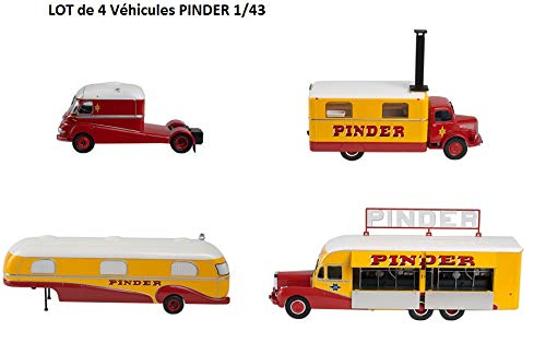 alta calidad OPO 10 - Set of 4 Vehicles of The Circus Circus Circus Pinder Jean Richard  Assomption Tractor + Trailer + Kitchen + Cocheavan of The Director - Collection 1 43 (DK01 + 02 + 03 + 04)  Todo en alta calidad y bajo precio.