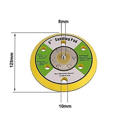 KingBra 5-inch Sanding Pad 6 Hole Hook and Loop Backing Pad Polishing Backer Plate Sanding Disc Pad Random Orbital Polishing Waxing Buffing Electric Grinder Sander Tool: Industrial & Scientific