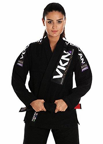 Women's Pro Light Jiu Jitsu Gi + Free Submission and Position Videos + 30 Day Comfort Guarantee + IBJJF Approved (Black/Purple, A0)