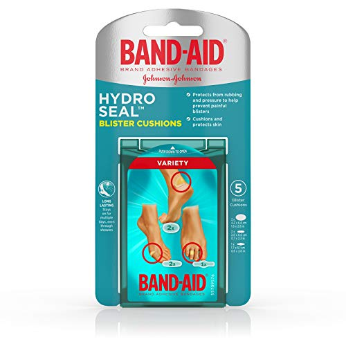 Band-Aid Brand Hydro Seal Blister Cushion Bandages, Variety Pack of Waterproof Blister Pads, 5 ct Band Aid Advanced Healing Blister Cushions