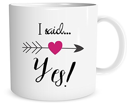 I said Yes! Mug, Engagement Announcement Mug, Bridal Shower Gift, 11 oz. Mug