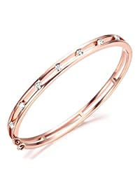 Rose Gold Bracelets Bangles for Women Infinity Bracelet Crystals from Swarovski, Ladies Bracelets for Mom Women