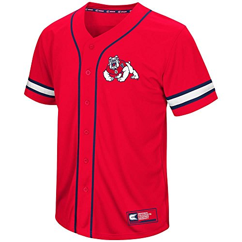 Bulldog Baseball Jersey - Mens Fresno State Bulldogs Baseball Jersey - L