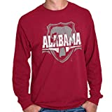 Vintage Alabama Tourist Gym AL Team Spirit Long Sleeve T Shirt Cardinal Red