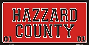 smartblonde Hazzard County Dukes of Hazard Novelty License Plate Tag Sign