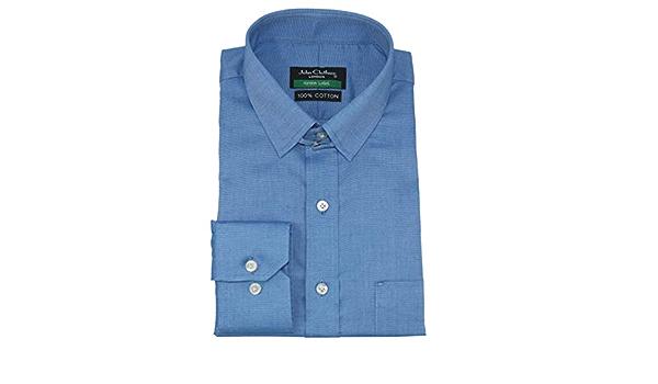 WhitePilotShirts - Camisa para Hombre con Cuello y Lazo, 100 ...