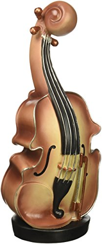 Oh Trendy HLC16HSRDRXX5 Violin Coin Bank Brown