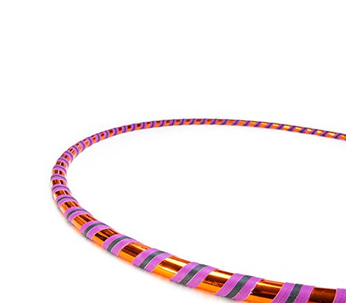 Weighted Fitness Hula Hoop. Great for Exercise, Dancing, Staying in Shape and Having Fun! (Orange Delight, Fitness Hoop L 40