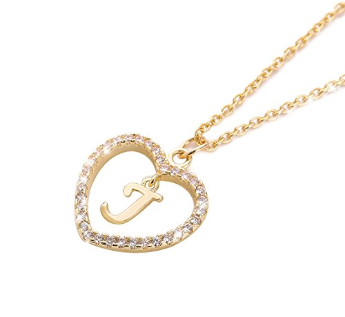 ForeveRing Z Letter Pendant Necklace A-Z Initial Necklace J Necklace Name Necklace Woman Jewelry