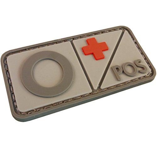 Blood Type PVC Rubber 3D Touch Fastener Patch Morale Airsoft Combat Tactical Military