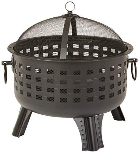 affordable AmazonBasics 23.5 Inch Steel Lattice Fire Pit (Renewed)
